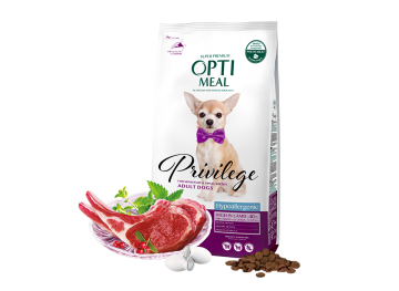 OPTI MEAL Hypoallergenic of miniature and small breeds high in LAMB with rice